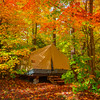 Camping In Algonquin Park In Autumn - Algonquin Provincial Park, Nipissing, South Part, Ontario, Canada
