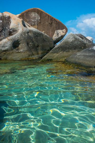 The Clear Tropical Waters Of The Bath - The Baths, Virgin Gorda, British Virgin Islands, Caribbean