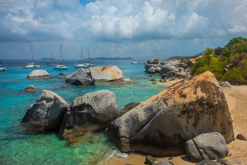 Looking Down The Baths Beach - The Baths, Virgin Gorda, British Virgin Islands, Caribbean