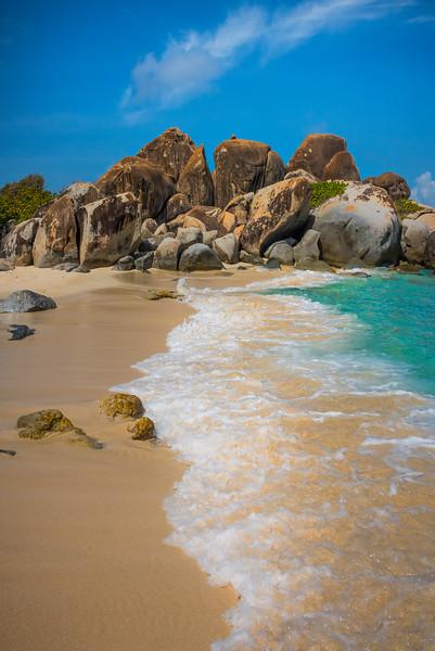 Along The Shore Of The Baths - The Baths, Virgin Gorda, British Virgin Islands, Caribbean