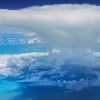 Pano Of Thunderhead Over Caribbean Islands - Aerial Images Of The Caribbean Islands