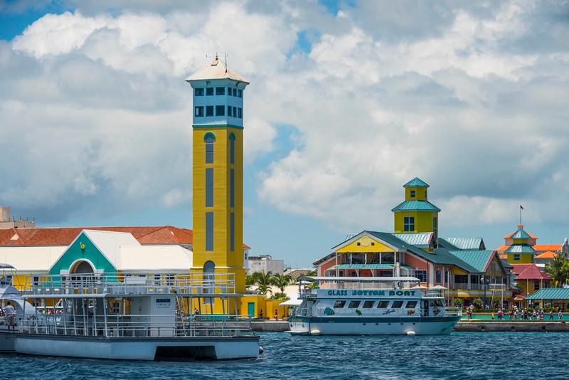 Nassau Market With Tour Boats - Nassau, Bahamas, Caribbean
