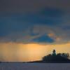 Sunset Darks Going By Nassau Lighthouse