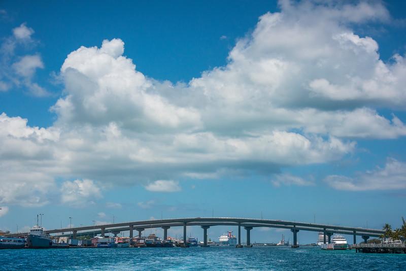 Leaving The Port Through The Gateway - Nassau, Bahamas, Caribbean