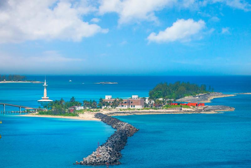 Passing Crystal Kay Lighthouse -  Crystal Cay, Bahamas, Caribbean