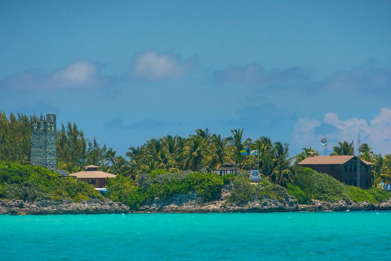 The Outside Of The Blue Lagoon Resort - Salt Kay, Bahamas, Caribbean