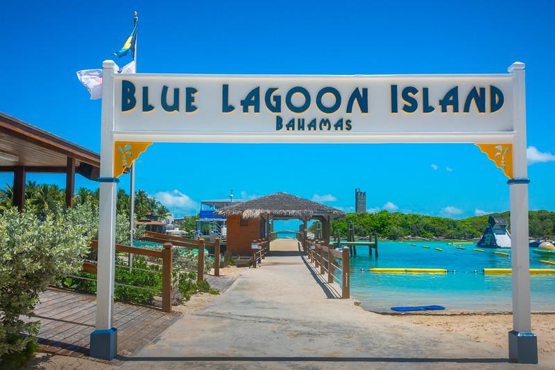 Entrance Into The Blue Lagoon - Salt Kay, Bahamas, Caribbean