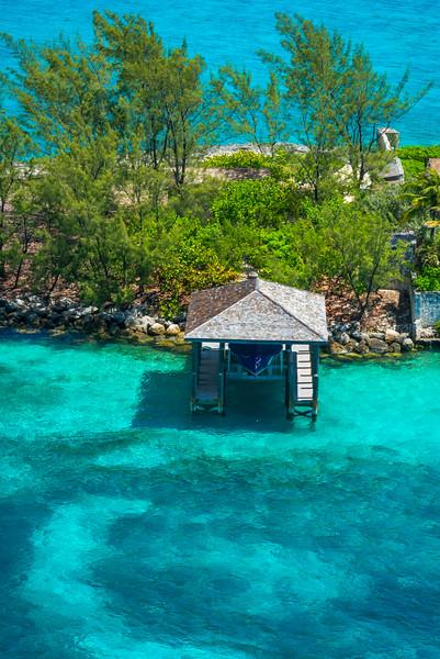 Pier Huts Along The Islands Of Nassau - Nassau, Bahamas, Caribbean