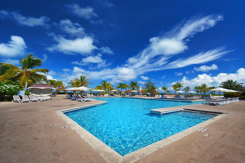Turks & Caicos Club Med Pool - Providenciales, Turks And Caicos, Caribbean