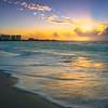 Sunset Reflections Crashing On Grace Bay