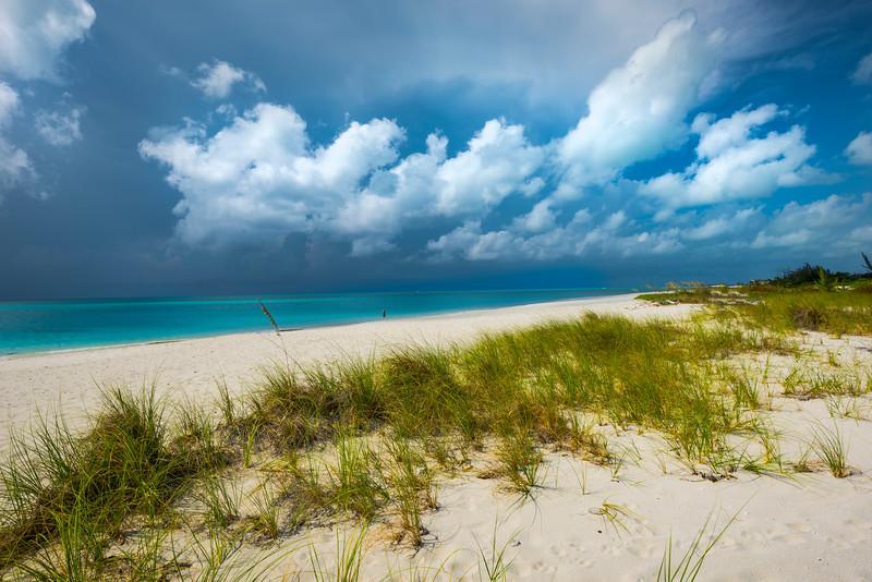 A Walk Down A Empty Beach On Turks - Providenciales, Turks And Caicos, Caribbean