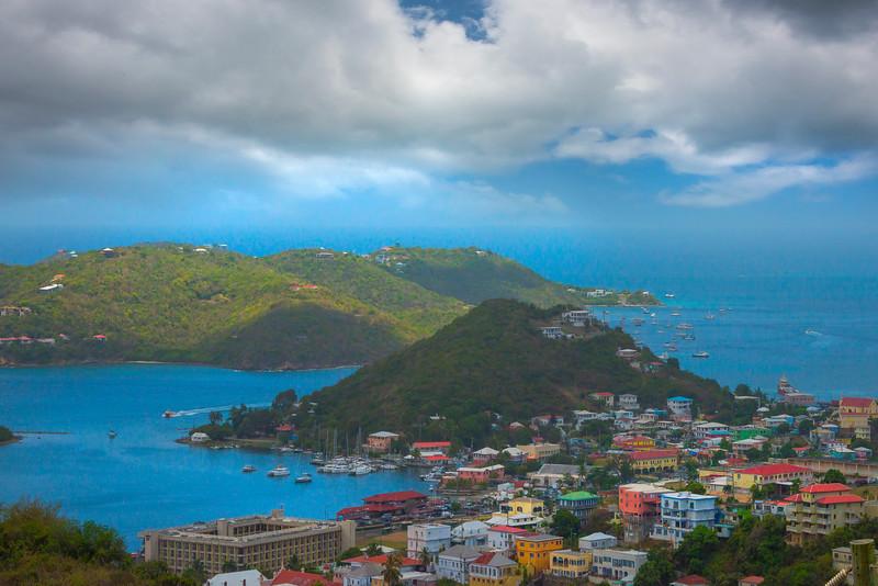 St Thomas Harbor Islands Under Storm Clouds -  Charlotte Amalie , St. Thomas, US Virgin Islands