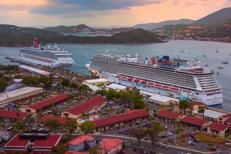 St Thomas Docked In Bay -  Charlotte Amalie , St. Thomas, US Virgin Islands