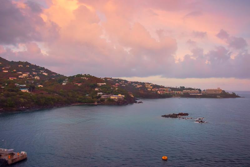 Sunset Colors Over The St Thomas Harbour -  Charlotte Amalie , St. Thomas, US Virgin Islands
