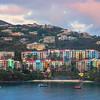 Sunset Reds Over The Bay -  Charlotte Amalie , St. Thomas, US Virgin Islands