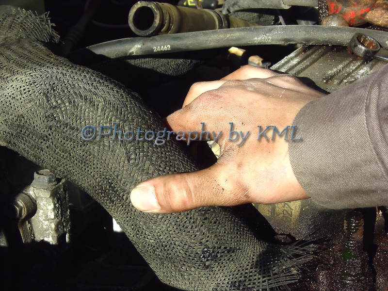 repairing an engine in a vehicle
