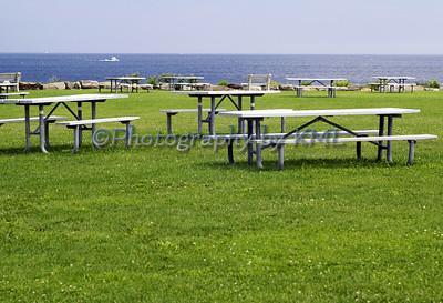 Empty Picnic Tables