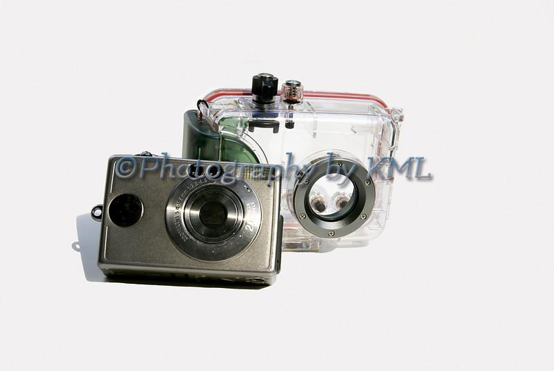 Camera with Underwater Case