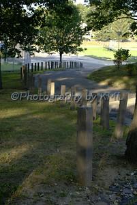 Wood Posts Along the Walkway