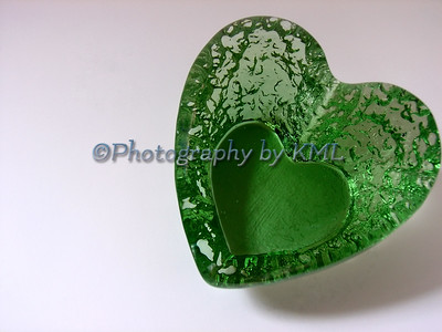 Green Heart Paperweight