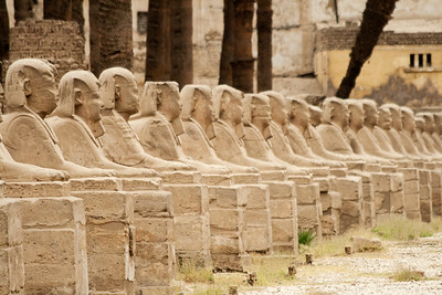 The Avenue of Sphinxes, Luxor, Egypt