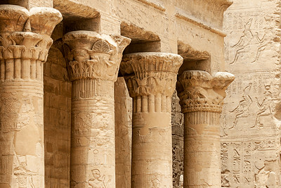 Columns at Edfu Temple, Egypt