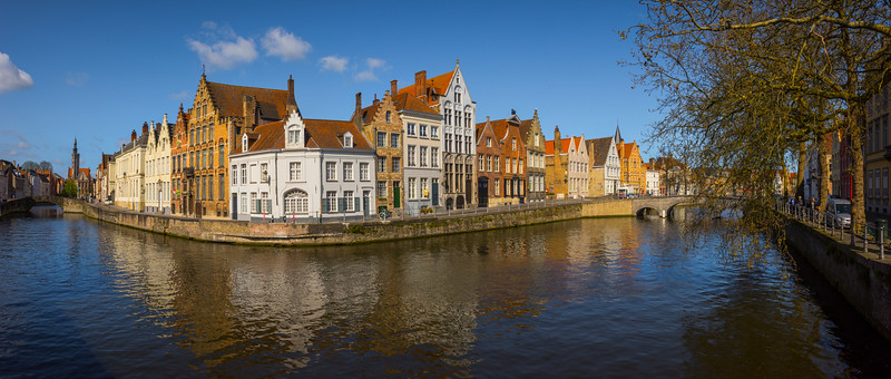 Pano Of The Buildings And Canal