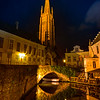 The Quietness Of Nighttime In Brugge