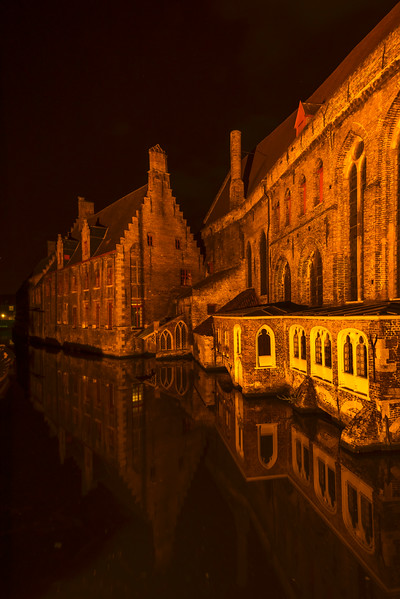 The Old Hospital At Night In Brugge