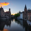 Sunset Over Brugge's Most Iconic Spot