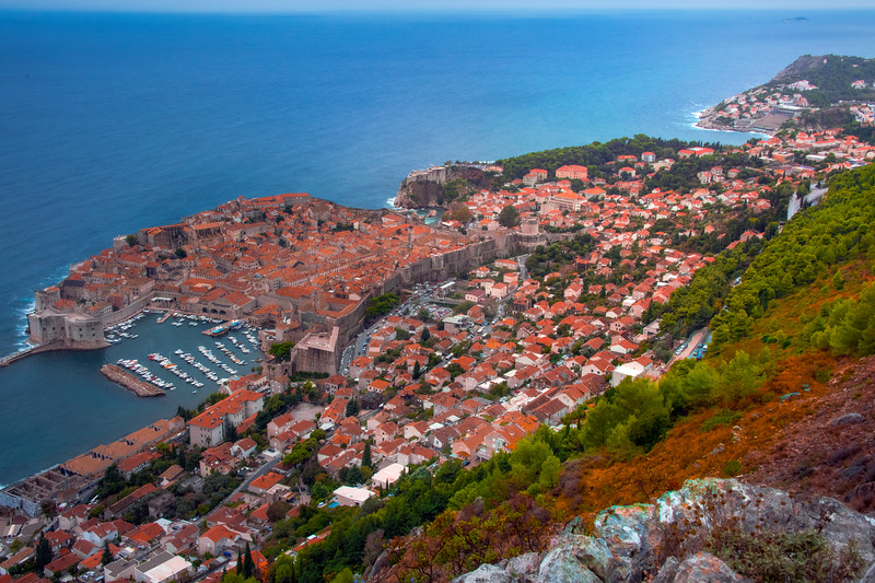 Fall Foliage Along The Dubrovnik Hillside - Dubrovnik, Croatia