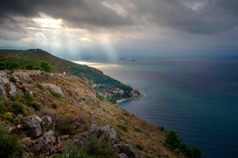 Looking Down The Dubrovnik Coast High In The Mountains - Dubrovnik, Croatia
