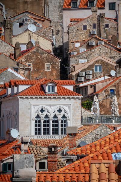 Rooftop Symetry - Dubrovnik, Croatia