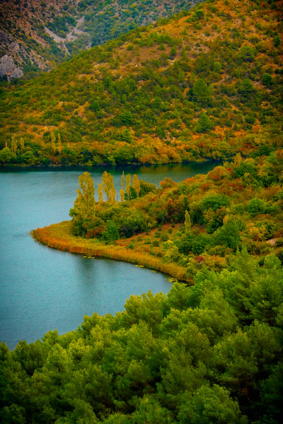 Autumn Gold Along The Lake - Krka National Park, Split, Croatia