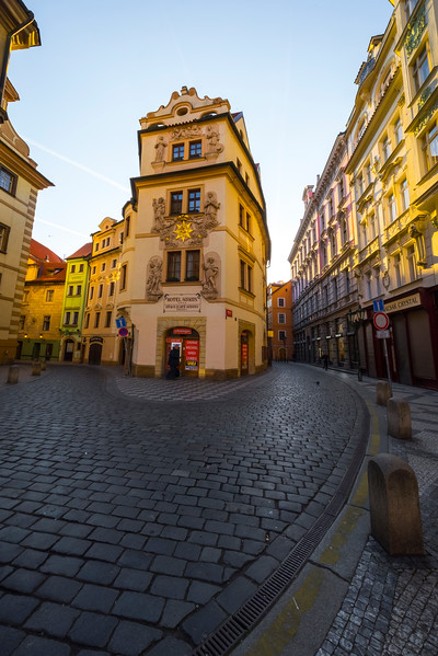 Early Morning In The Historic Area Of Prague