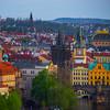 Twilight Dusk Begins To Settle Over Prague