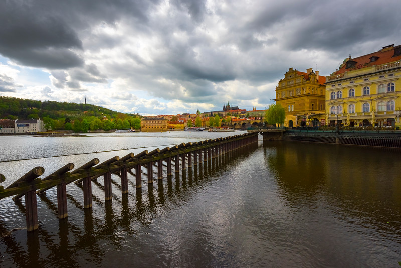 A View Of Prague From The Waterfront