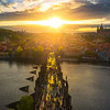 Sunburst Sunset Over Prague