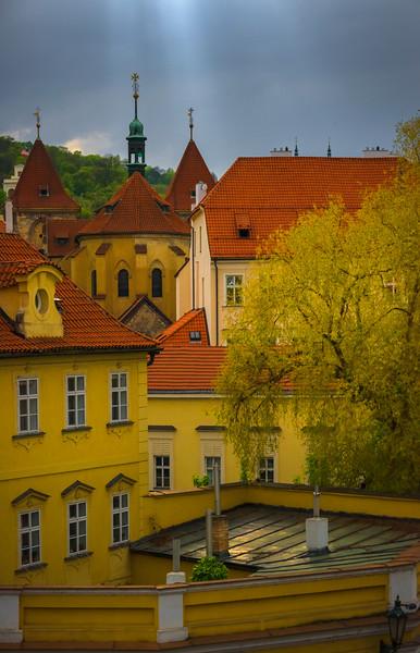 Rooftops Of Prague City