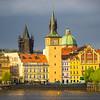Prague At The Center Along River