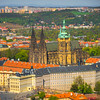 The Old Prague Castle And Prague From Petrin Tower