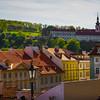 Warm Light Shines On The Hills Of Prague