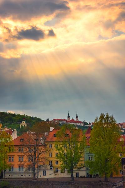 Sun Rays Showcase The Castle On The Hill