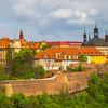 Looking At The High Walls Of Prague