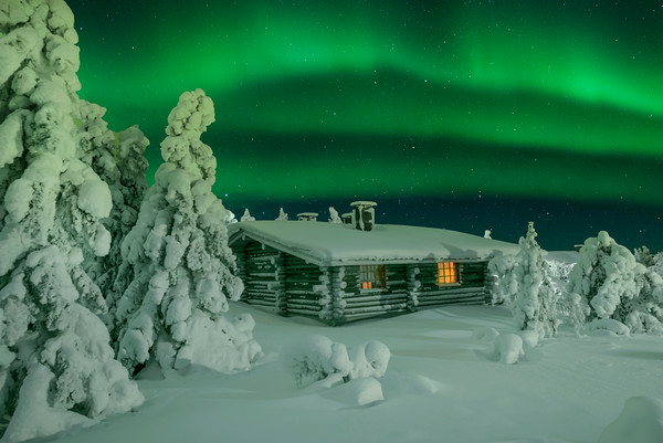 Northern Lights Cabin - Finland -Iso-Syote National Park, Finland
