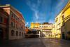 Golden Light Inside The Square Market  - Corfu, Greece