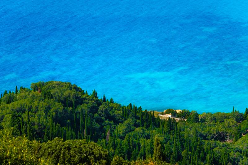 Contrast Between The Sea And Land -  Corfu, Greece