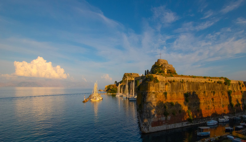 Warmth Of Last Light On The Old Fortress - Corfu, Greece