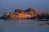 Sun Setting Last Light On The Old Town Of Corfu - Corfu, Greece