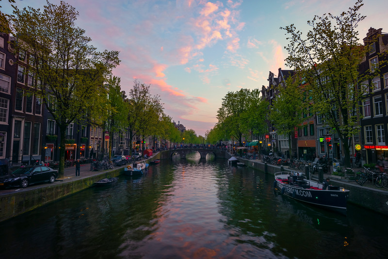 Pink Skies Sets Over Amsterdam